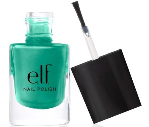 elf teal blue nail polish