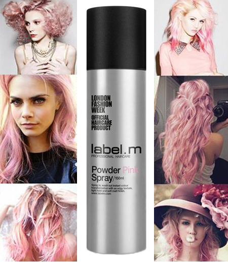 pink powder spray label m toni e guy
