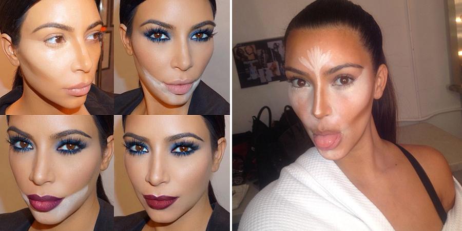 kim kardashian baking makeup