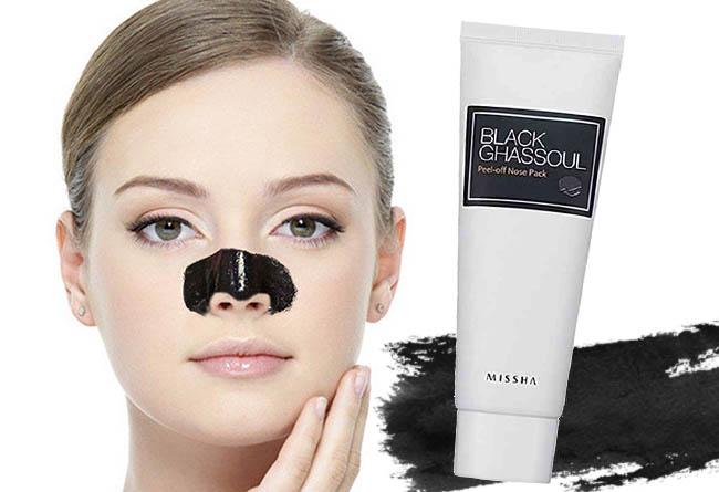 maschera-nera-punti-neri-MISSHA Black Ghassoul Peel-Off